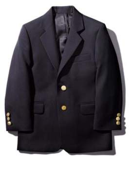 Lord & Taylor Gold-Button Wool-Blend Navy Blazer