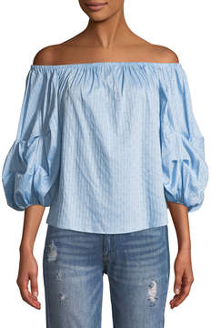 Cynthia Steffe Cece By Off-The-Shoulder Balloon-Sleeve Blouse