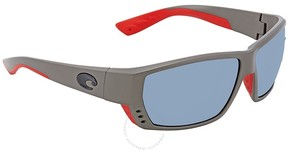 Costa del Mar Tuna Alley Grey Silver Mirror Large Sunglasses TA 196 OSGP
