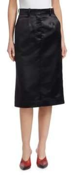 Calvin Klein Vintage Acetate Satin Pencil Skirt
