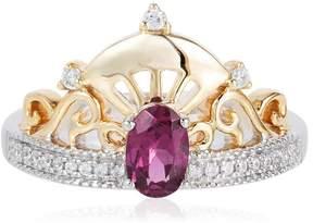 Disney Enchanted 0.59ctw Garnet and Diamond Mulan Tiara 2-Tone Ring