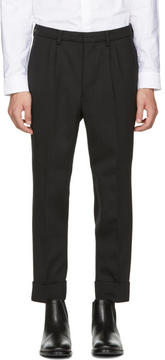 Ami Alexandre Mattiussi Black Wool Carrot Fit Trousers
