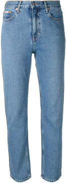 CK Calvin Klein fitted straight leg jeans