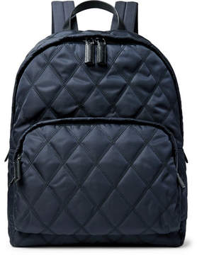Prada Leather-Trimmed Quilted Nylon Backpack