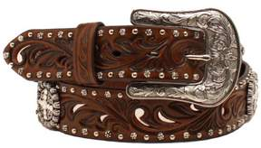 Ariat Western Belt Womens Conchos Crystals Studs Brown A1518602