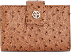 Giani Bernini Ostrich-Embossed Frame Wallet, Created for Macy's