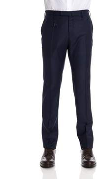 Incotex Men's Blue Wool Pants.