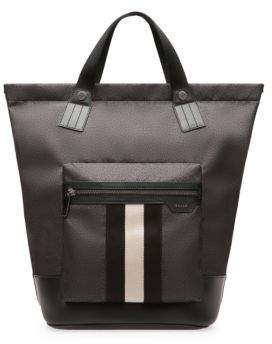 Bally Crowley Stripe Nylon Tote