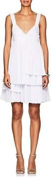 Cédric Charlier Women's Pleated Cotton-Blend Sleeveless Minidress
