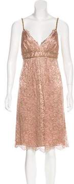ABS by Allen Schwartz Lace Metallic Dress