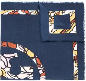 Tory Burch logo print scarf