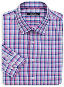 Saks Fifth Avenue BLACK Men's Plaid Dress Shirt