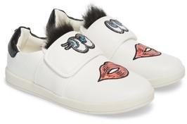 Sam Edelman Girl's Cynthia Mallory Faux Fur Sequined Sneaker