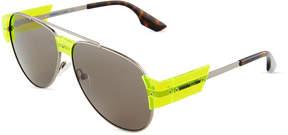 McQ Aviator Metal/Plastic Sunglasses
