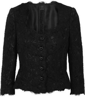 Dolce & Gabbana Guipure Lace Blouse - Black