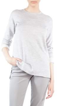 Akris Wool & Silk Stripe Back Sweater