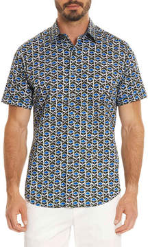 Robert Graham Tames Geometric-Print Short-Sleeve Sport Shirt