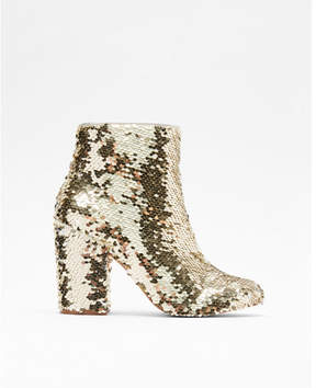 Express reversible sequin boots