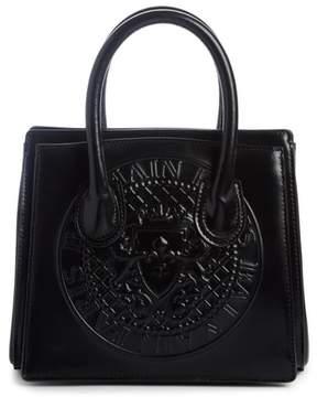 Balmain Mini Glace Leather Top Handle Bag