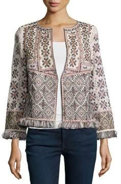 Calypso St. Barth Bernati Embroidered Fringed Jacket