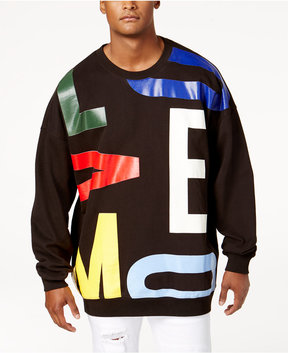 Moschino Men's Oversized Graphic-Print Sweatshirt