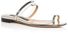 Sergio Rossi Women's Karen Leather Toe Strap Sandals