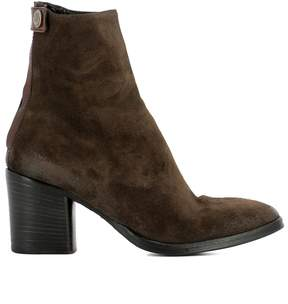 Alberto Fasciani Brown Suede Heeled Ankle Boots