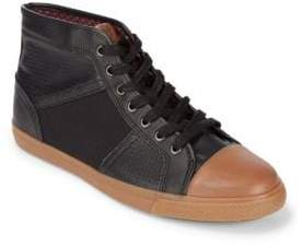Ben Sherman Mason Leather High-Top Sneakers