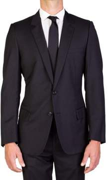 Christian Dior Men's Wool Two-Button Suit Pinstriped Black