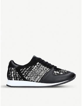 Carvela Lake leather and fabric trainers