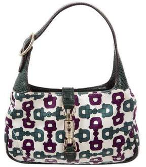 Gucci Lizard-Trimmed Mini Jackie Bag - GREEN - STYLE