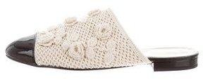 Chanel 2016 Camellia Cap-Toe Mules