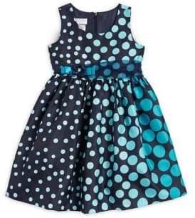 Iris & Ivy Little Girl's Gradient Polka Dots Sleeveless Dress