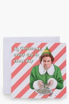 boohoo Elf Cheat Day Christmas Card