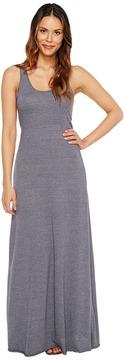 Alternative Eco Jersey Yarn-Dye Stripe Double Scoop Tank Dress Women's Dress
