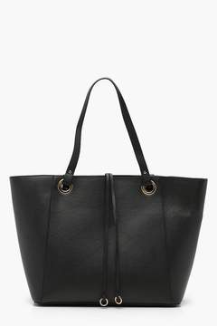 boohoo Teagan Structured Crosshatch Tote