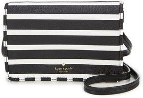 Kate Spade Hyde Lane Striped Renee Cross-Body Bag - BLACK/OFF WHITE - STYLE