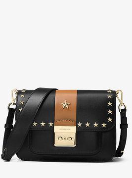 Michael Kors Sloan Editor Studded Leather Shoulder Bag