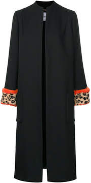 Blugirl fur trim coat