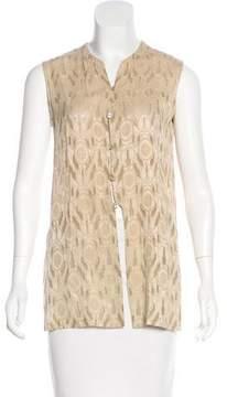 Tahari Sleeveless Embroidered Top