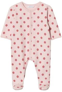 Absorba Pink Spot Padded Babygrow