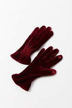 Urban Outfitters Velvet Ruched Glove