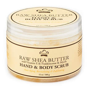 Nubian Heritage Raw Shea Butter Body Scrub by 12oz Scrub)