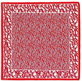 Lanvin   Square Logo Scarf   Ruby