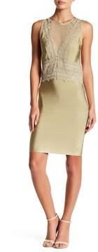 Wow Couture Crochet & Mesh Detail Dress