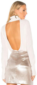 Halston Cowl Back Tunic Sweater