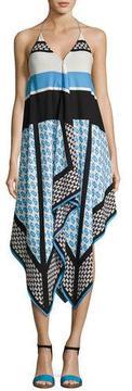 Cynthia Steffe Mariah Sleeveless Racerback Dress, Blue Pattern