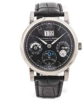 A. Lange & Söhne A. Lange and Sohne Langmatik Perpetual Black Dial 18K White Gold Men's Watch