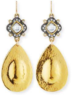 Devon Leigh Diamond-Illusion Teardrop Earrings