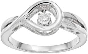 Brilliance+ Brilliance In Motion Brilliance in Motion Diamond Accent Sterling Silver Loop Ring